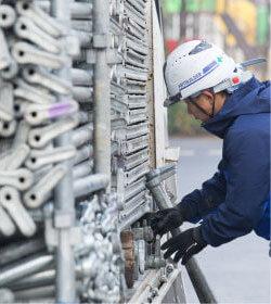 足場施工スタッフ未経験者の仕事 正社員STEP01